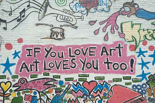 If you love art, art loves you too